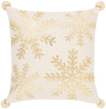 Surya Twinkle Throw Pillow in Beige