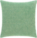 Surya Waffle Throw Pillow in Dark Green