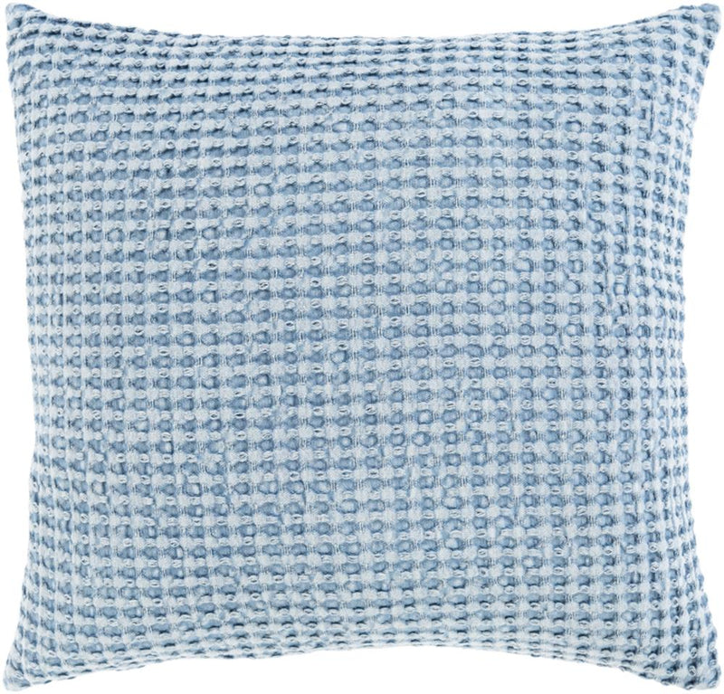 Surya Waffle Throw Pillow in Bright Blue