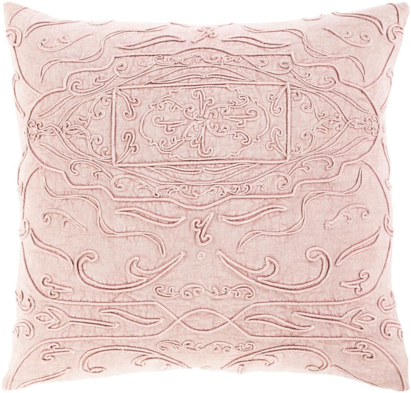 Surya Wedgemore Throw Pillow in Medium Gray