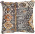 Surya Yuri Throw Pillow in Medium Gray