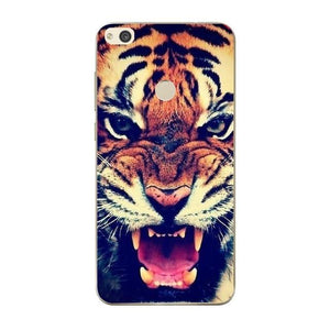 coque huawei p smart roi lion