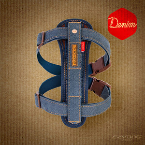 Chest Plate Harness - Denim