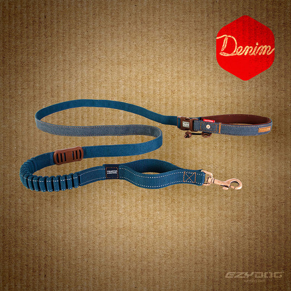 Road Runner Leash - Denim