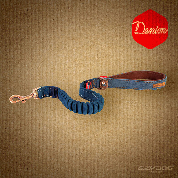 Zero Shock Leash - Denim