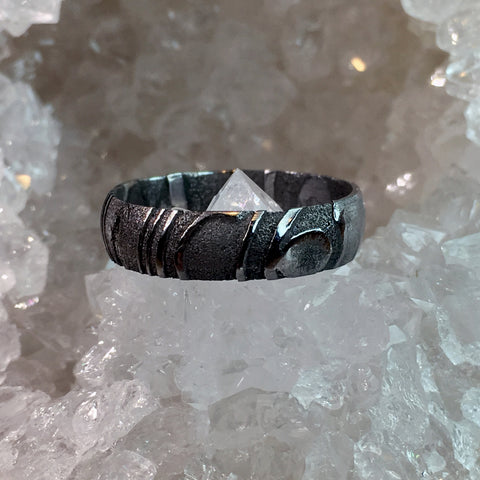 The Avalon - Damascus Steel Ring - Oxu Jewelry