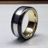 The Noble - Carbon Fiber & Metal Ring - Oxu Jewelry