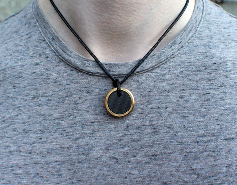 The Sergeant - Carbon Fiber & Brass Necklace - Oxu Jewelry