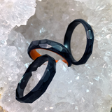 The Hourglass - Carbon Fiber Glow Ring - Oxu Jewelry