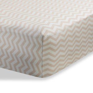 ABSTRACT FITTED PORTABLE CRIB SHEET ZIGZAG