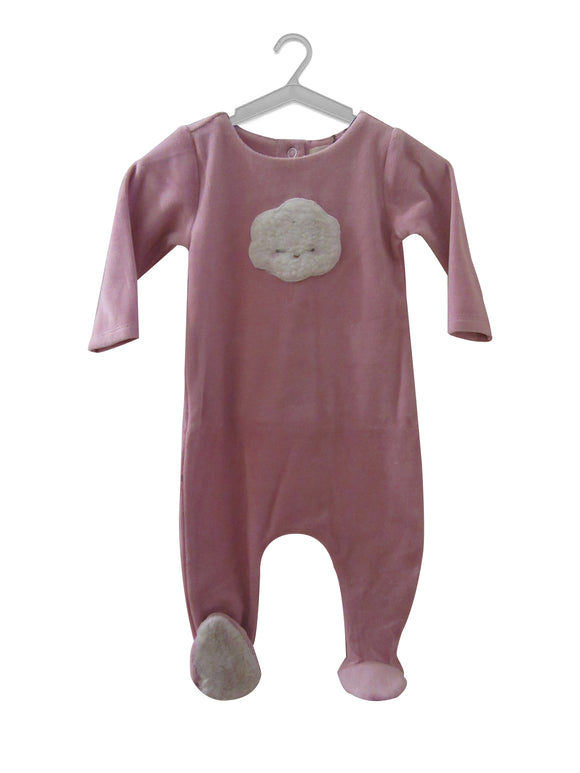 DUSTY_PINK_WITH_WHITE_SHERPA_CLOUD_VELOUR_STRETCHIE_ADORABLE_BABY_GIFT_CITRINE_KALEIDO_KIDS