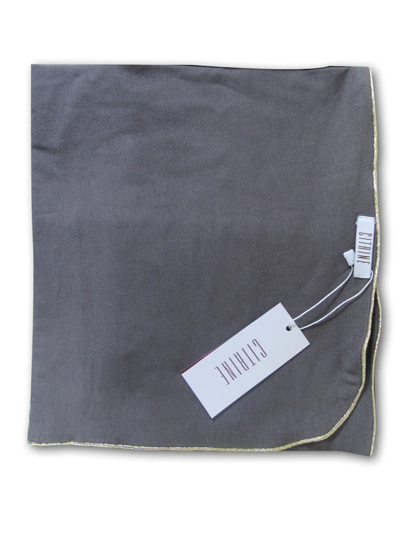 BAMBOO_COTTON_RECEIVING_BLANKET_GREY_WITH_GOLD_TRIM_BABY_SWADDLE