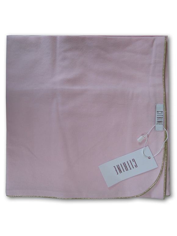PINK_WITH_GOLD_TRIM_BABY_SWADDLE_BAMBOO_COTTON_BLANKET