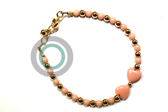 PINK_BABY_BRACELET_WITH BOW_PINK_AND_GOLD_PEARLS