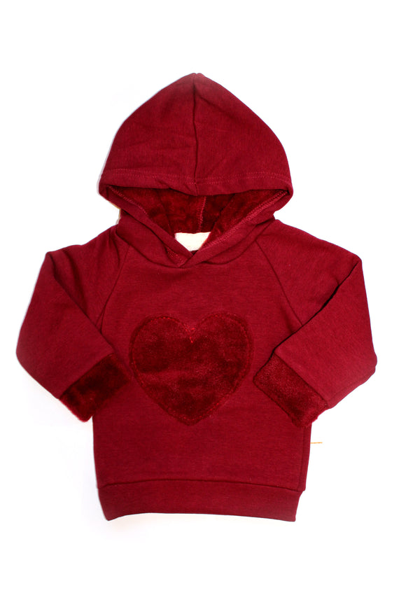 COTTON HOODED COZY SWEATSHIRT