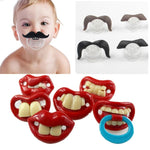 Moustache and Teeth Funny Pacifier - SpoiledBabys