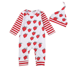 Strawberry Baby Jumpsuit - SpoiledBabys