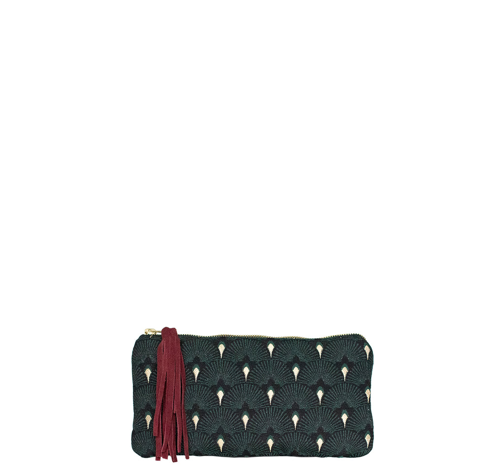Clutch Bag klein PEACOCK