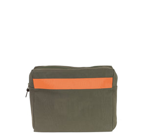 Kulturtasche -L- GREEN RIPS orange