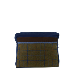 Kulturtasche -L- BLUE TWEED
