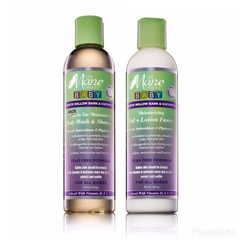 The Mane Choice BABY White Willow Bark & Cucumber Moisturizing Oil + Lotion Fusion