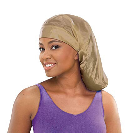 Stay On Satin Tie Pocket Bonnet
