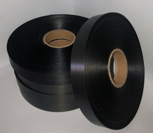 10mm x 100m Black Polysatin