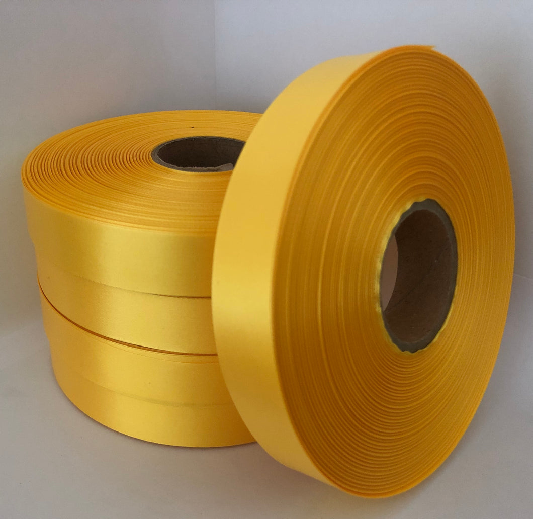 25mm x 100m Yellow Polysatin