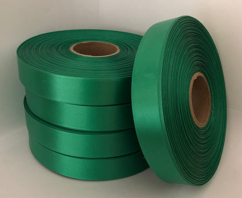 25mm x 100m Emerald Green Polysatin