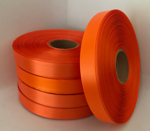 15mm x 100m Orange Polysatin