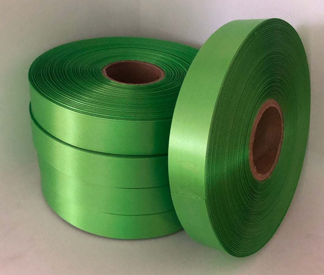 25mm x 100m Lime Green Polysatin