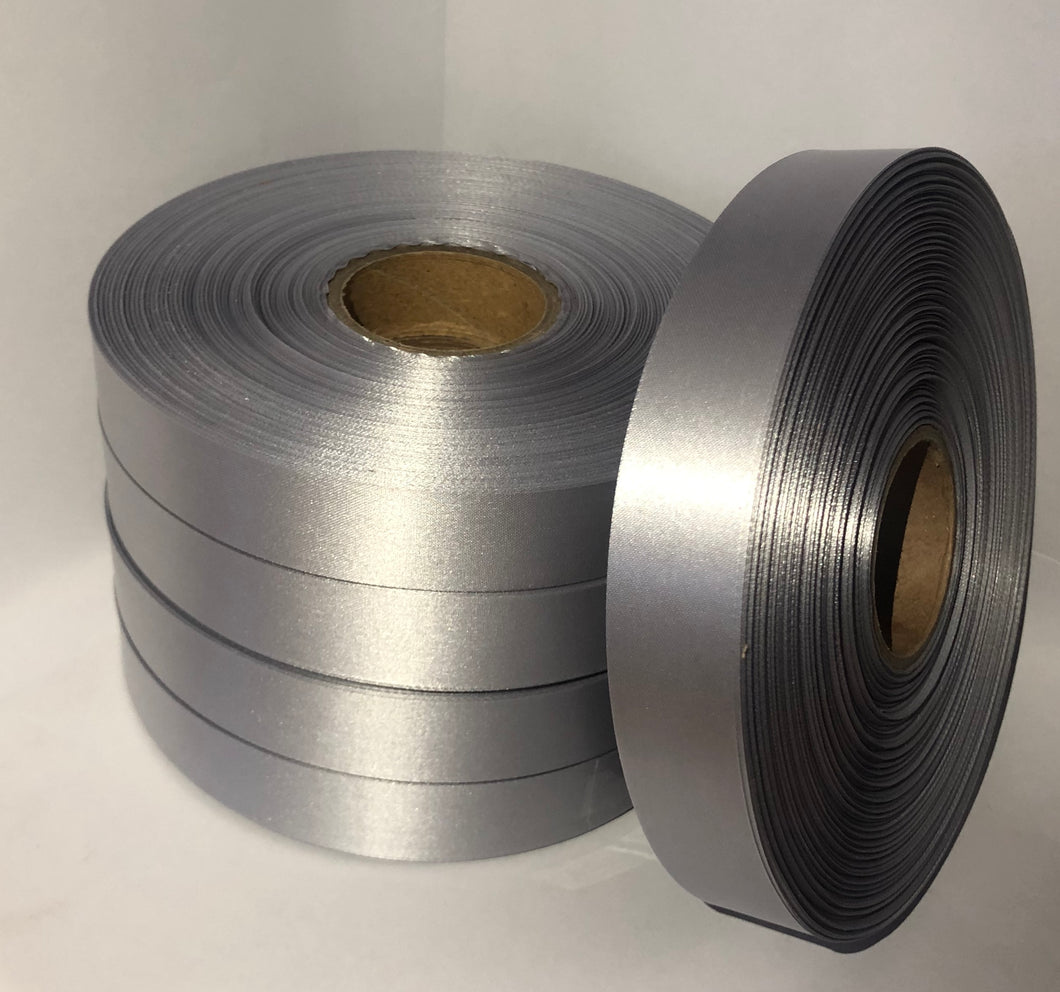 25mm x 100m Dark Grey Polysatin