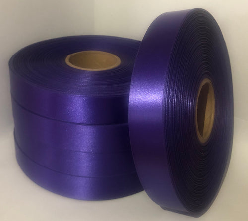 25mm x 100m Purple Polysatin
