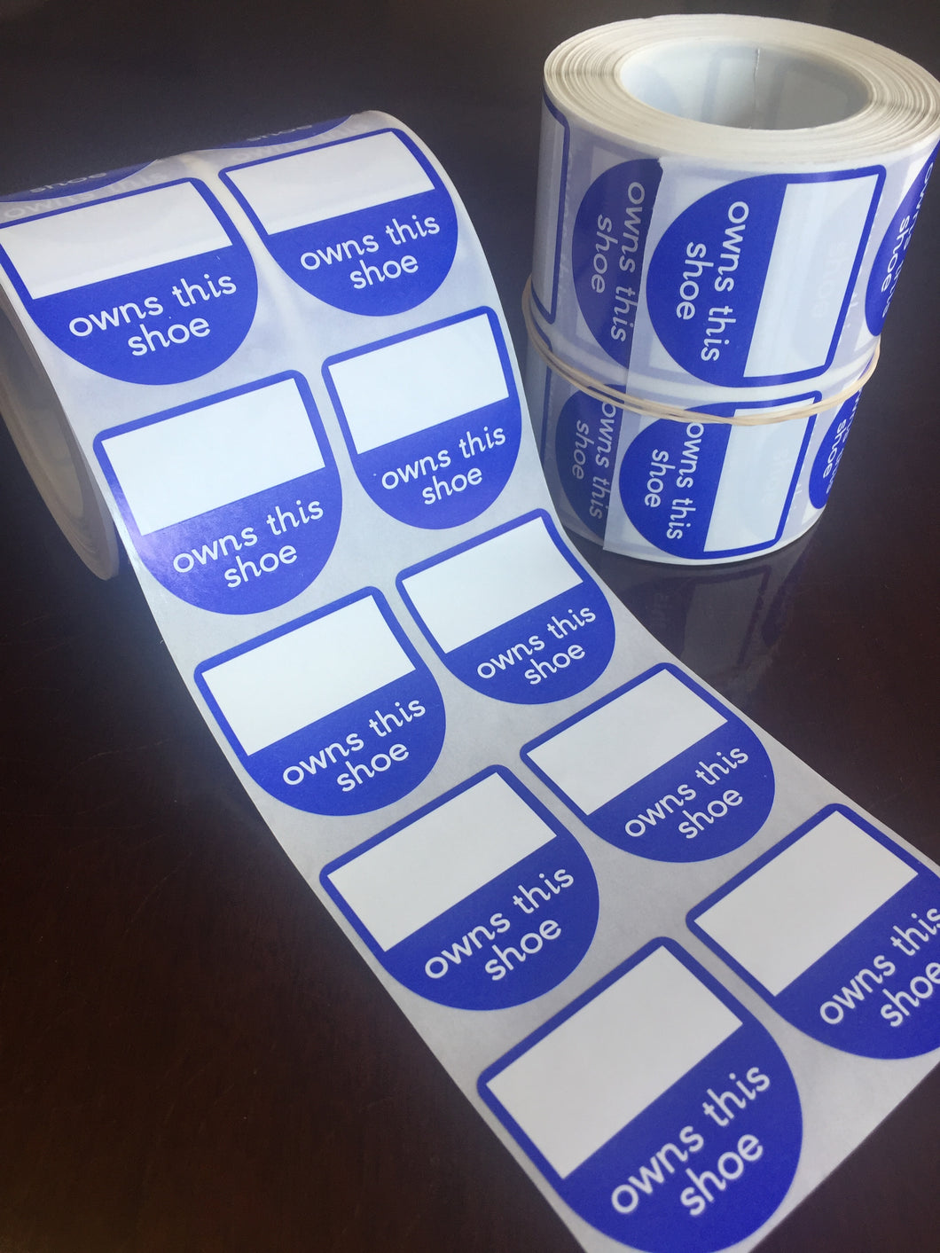 Blue Shoe labels