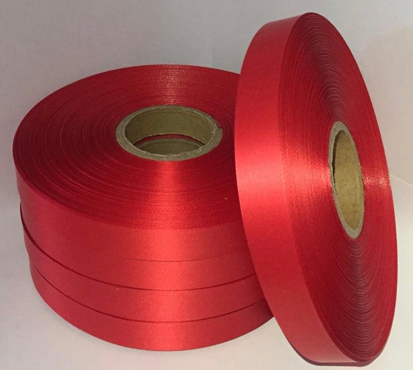 25mm x 100m Red Polysatin