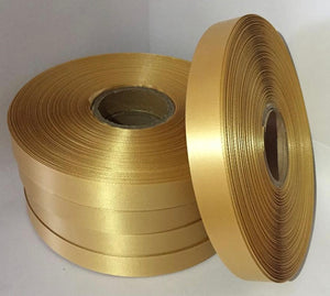 15mm x 100m Antique Gold Polysatin