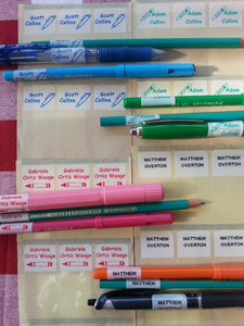 Wrap Around Pen & Pencil Labels 2K 1 Across