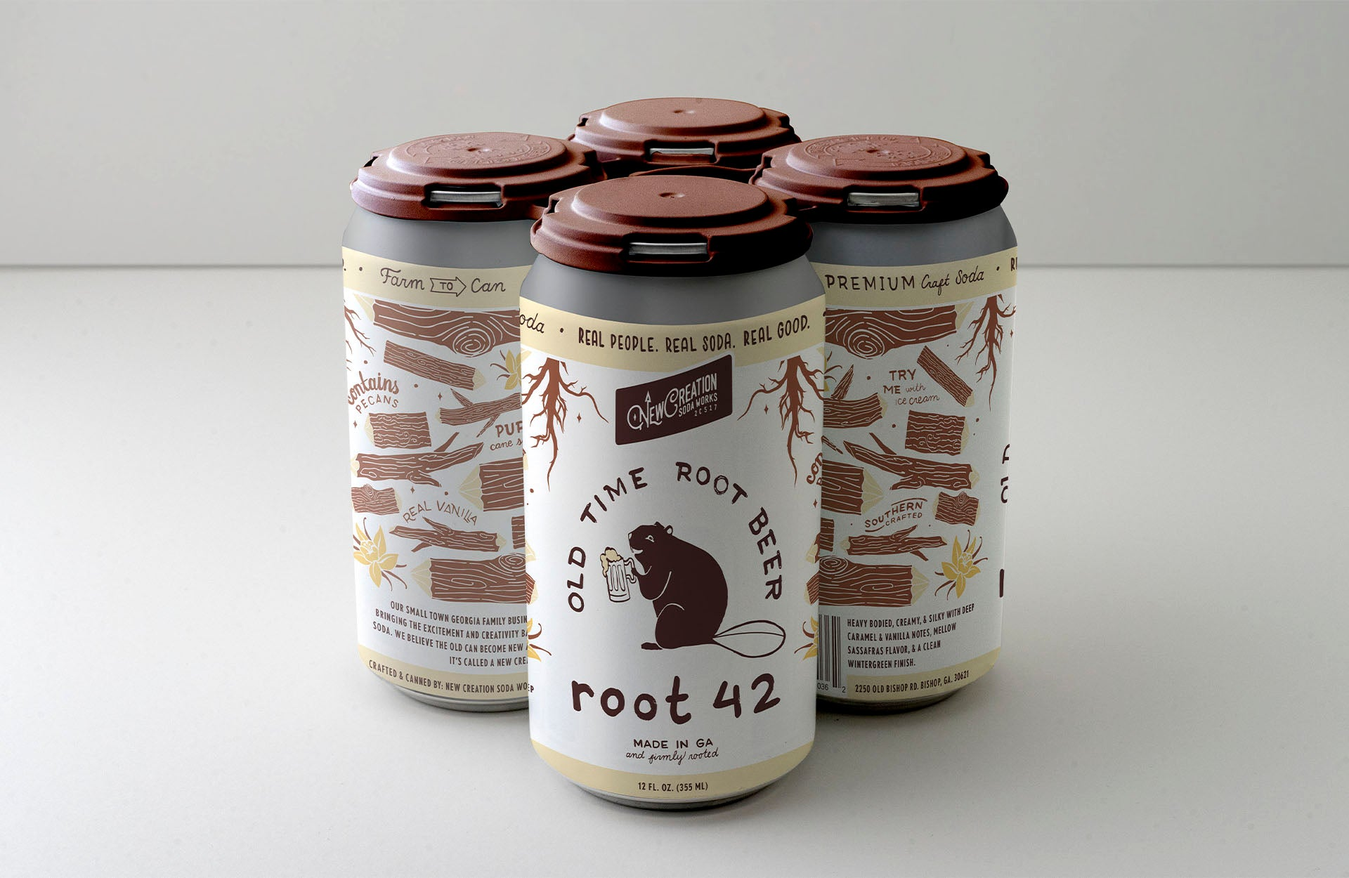 Root 42 Old Time Root Beer Soda 4pk
