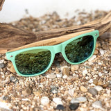 WOOD GLASSES WOOD SUNGLASSES Green Bobo Bird G01 Bamboo Wooden Sunglasses for Men and Women with Wooden Box