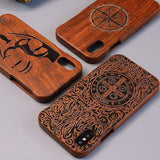 All Wooden Case For iPhone 6 Carved Handmade Luxury iPhone Covers