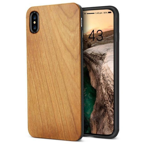 WOOD PHONE CASE WOODEN iPHONE CASE Cherrywood Yfwood Real Wood iPhone 10 X Case Best Ultra Thin Slim iPhone Cases