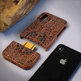 WOOD PHONE CASE WOODEN iPHONE CASE Full Wooden Case For iPhone 6S Plus Natural Handcrafted iPhone Covers