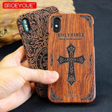 WOOD PHONE CASE WOODEN iPHONE CASE Lux Wooden Case For iPhone 6S Carved Natural Handmade iPhone Covers