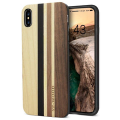 WOOD PHONE CASE WOODEN iPHONE CASE Maple Walnut 1 / for iPhone XS YFWOOD Real Wood Case for iPhone XS Best Wooden iPhone Covers