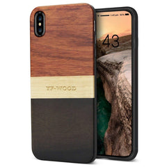 WOOD PHONE CASE WOODEN iPHONE CASE Rosewood Ebony 3 / for iPhone XS YFWOOD Real Wood Case for iPhone XS Best Wooden iPhone Covers