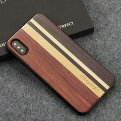 WOOD PHONE CASE WOODEN iPHONE CASE Rosewood Ebony 4 / for iPhone XR YFWOOD Real Wood Case for iPhone XR Best Wooden iPhone Covers