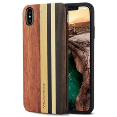 WOOD PHONE CASE WOODEN iPHONE CASE Rosewood Ebony 4 / for iPhone XS Max YFWOOD Real Wood Case for iPhone XS Max Best Wooden iPhone Covers
