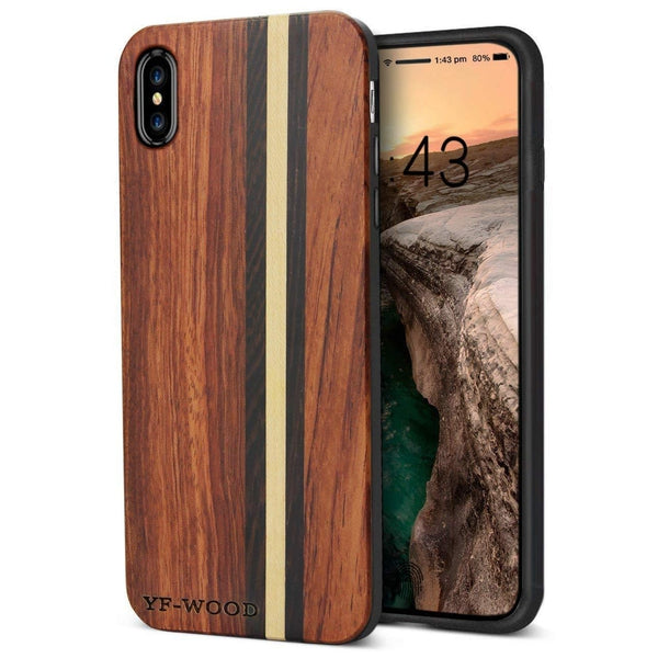WOOD PHONE CASE WOODEN iPHONE CASE Rosewood Maple 2 / for iPhone XS YFWOOD Real Wood Case for iPhone XS Best Wooden iPhone Covers