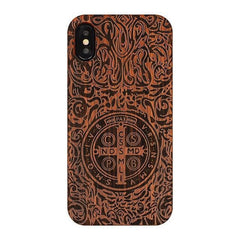 WOOD PHONE CASE WOODEN iPHONE CASE TD / For iPhone XR All Wood Case For iPhone XR Carved Handcrafted Luxury iPhone Covers