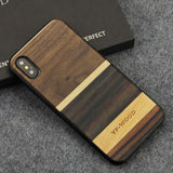 WOOD PHONE CASE WOODEN iPHONE CASE Walnut Maple 5 / for iPhone XS Max YFWOOD Real Wood Case for iPhone XS Max Best Wooden iPhone Covers